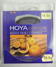 PRL) HOYA FILTRO FILTRE FILTER 55 mm FLUORESCENTE FL-W BOTH SIDES COATED NOS