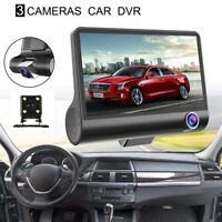 4 inch HD 1080P Three Lens Car Dash Camera Night Vision Cam Video Driving R R7B6