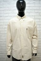 Camicia Uomo TIMBERLAND Taglia 3XL Manica Lunga Cotone Hemb Chemise Camisa Beige