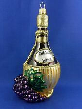 Chianti Wine Drink Grape Italy Glass Food Christmas Tree Ornaments Poland 011275