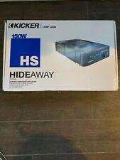 "Nib - Kicker 11Hs8 Car Audio 8""Hideaway Powered Subwoofer Sub Enclosure W/ Amp"