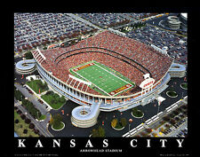 Arrowhead Stadium KANSAS CITY CHIEFS GAMEDAY AERIAL Premium Poster Print
