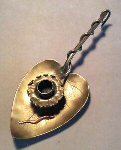 Arts & Crafts Mixed Metal Candleholder/Chamberstick