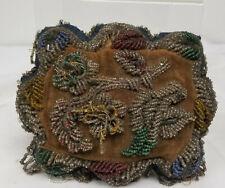 Antique Souvenir Native American Indian Iroquois Glass Beaded Pillow
