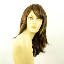 mid length wig women smooth chocolate copper wick clear ref:LILI ROSE 627C PERUK