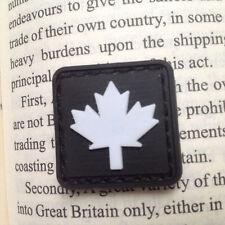 2 PCS MINI BLACK CANADIAN MAPLE LEAF 3D PVC Tactical US ARMY MORALE PATCH