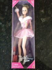 MATTEL FITS FLEXIBLE FEET BARBIE RARE BURGUNDY AND GOLD ICE SKATES SHOES NEW