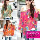 NEW WOMENS/GIRLS BATWING OVERSIZED ASYMMETRICAL TOP SIZE 8-10-12-14