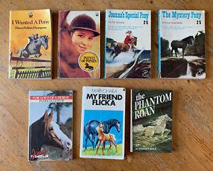 7 x Vintage Horse & Pony Paperback Novels Books - Mary O'Hara Patricia Leitch