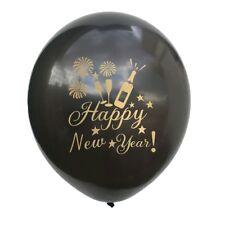 10Skt Helium Ballongas Set Geburtstag Happy New Year Luftballons mit Bänder Deko