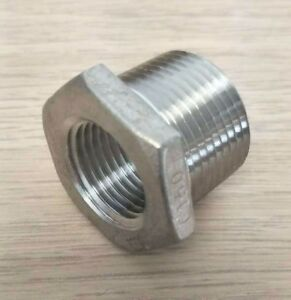 "Hex Bushing Stainless Steel 316 3/8"" x 1/8"" NPT Guardian"
