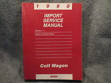1990 Chrysler Colt Wagon Import Service Manual Vol 1 Engine Chassis & Body Y435