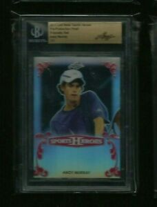"""Andy Murray Leaf Metal """"Sports Heroes"""" RED PRISMATIC PRE-PRODUCTION PROOF #1/1"""