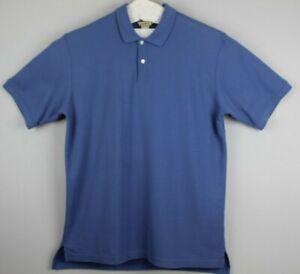LL Bean Mens Carefree Double L Polo Shirt Size L- TALL Blue EUC #17469