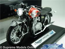 TRIUMPH BONNEVILLE MOTO T100 Modèle échelle 1:18 Rouge/Argent Welly TR19660PW K8