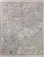 Lincolnshire 1794 Cary's Antique Map Market Raisin Alford Wainfleet Boston