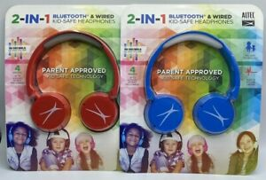Altec Lansing 2-IN-1 Bluetooth & Wired Kid-Safe Headphones Parent Approved New