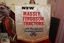 "Large Vintage 1960's Massey Ferguson Tractors Farm 39"" Banner Sign Nice"