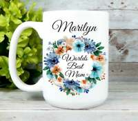 Worlds Best Mom Mug Mothers Day Gifts Mom Coffee Cup Personalized Mom Gifts Mug