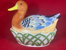 Fairmont & Main, Helen Duck Design Lidded Egg Storer, Excellent Condition