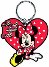 Disney Minnie Mouse All About Me Lasercut Key Ring Chain Keychain Keyring