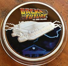 Back To The Future Coin Medallion Finished In Silver .999 Collectable Only 2015