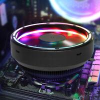 RGB LED CPU Cooler Fan Heatsink For Intel LGA1155  775 AMD4 AM3+ AM2+ FM1 Socket