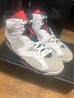 Nike Air Jordan 6 VI Retro Tinker Hatfield White 384664-104 Sz 11.5