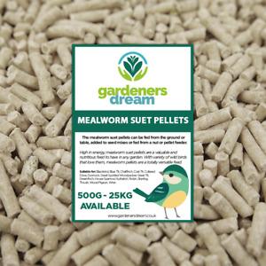 GardenersDream Mealworm Suet Pellets - High Energy Feed Wild Bird Garden Food