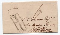 1804 wrapper to Worthing with Drury Lane boxed receiving house hand stamp