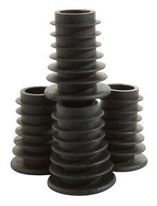 20 Standard Black Finned Rubber Bottle Corks for Spirit Measures Optics