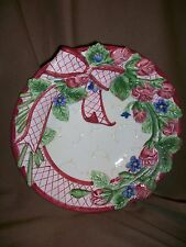 Fitz & Floyd For All Seasons Romantic Garden Potpourri Bowl Pink Roses
