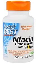 Doctor's Best - Niacin Time-Release with Niaxtend 500 mg, 120 Tablets