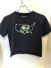University Of Notre Dame Shirt, Youth Large, Champion, Navy Blue, Graphic T