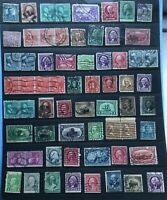 America/USA Stamp Collection - American Stamps On 5 Sides Of Stock Cards