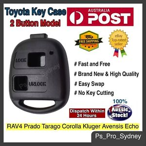 TOYOTA CAR KEY REMOTE CASE SHELL for Prado Tarago Corolla Kluger Avensis Echo