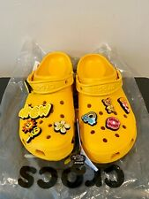 BRAND NEW JUSTIN BEIBER DREW HOUSE CROCS CLOG YELLOW SZ 8 11 12 13