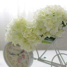 20Pcs Faux Artificial Silk Flower Head Hydrangea Home Wedding Decors White