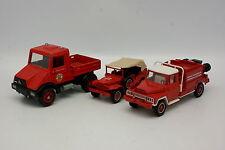 Solido e altri 1/50 - Set di 3 Vigili del fuoco Unimog Acmat Dodge