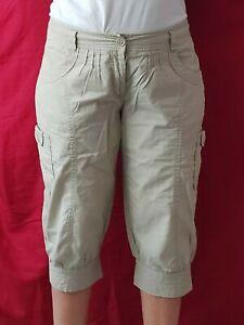Bermuda Short Beige cargo Vintage 100% Coton