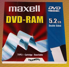 DVD-RAM MAXELL 5,2 gb Double sided. Neufs sous blisters