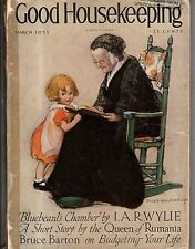 March 1925 Good Housekeeping Jessie Willcox Smith; Should wives be paid wages?
