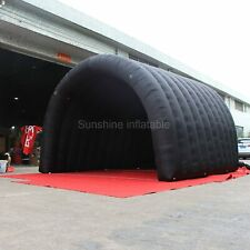 Hot sale Cheap Waterproof Black Inflatable Tunnel Tent Small Inflatable Stage