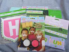 Happy Easter Egg Hunt Kit Lawn Banner 5 Ft Boundary Tape Makeup Kit NIP So Fun!