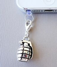 GRENADE cell phone Charm Dust proof Plug ear jack For iPhone smartphone C145