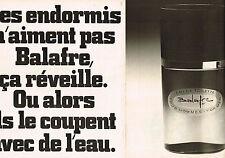 PUBLICITE  1976   LANCOME  parfum BALAFRE pour hommes ( 2 pages)
