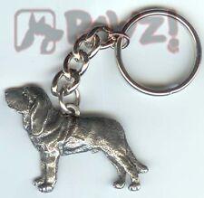 Bloodhound Dog Fine Pewter Keychain Key Chain Ring New