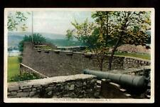 bastion fort ticonderoga new york military postcard