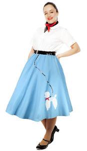 Felt Poodle Circle Skirt - Adult M / L - 50s Sock Hop - Made in USA - Hey Viv