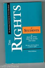 Law Book The Rights Of Students Basic ACLU Civil Liberties Price Levine Schools